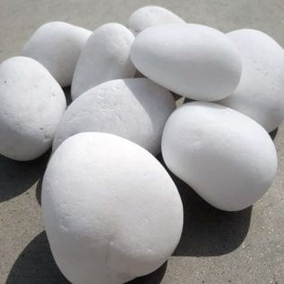 San Diego Snow white pebbles